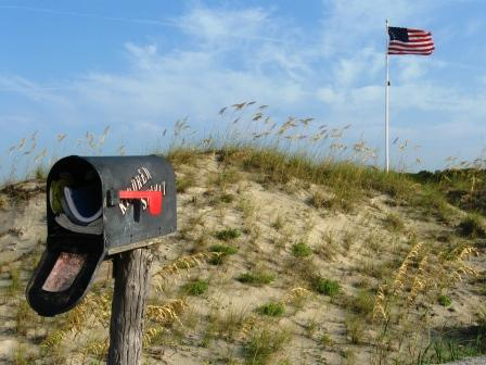 No one knows who erected the first Kindred Spirit Mailbox more than 30 years ago on the uninhabited Bird Island in North Carolina
