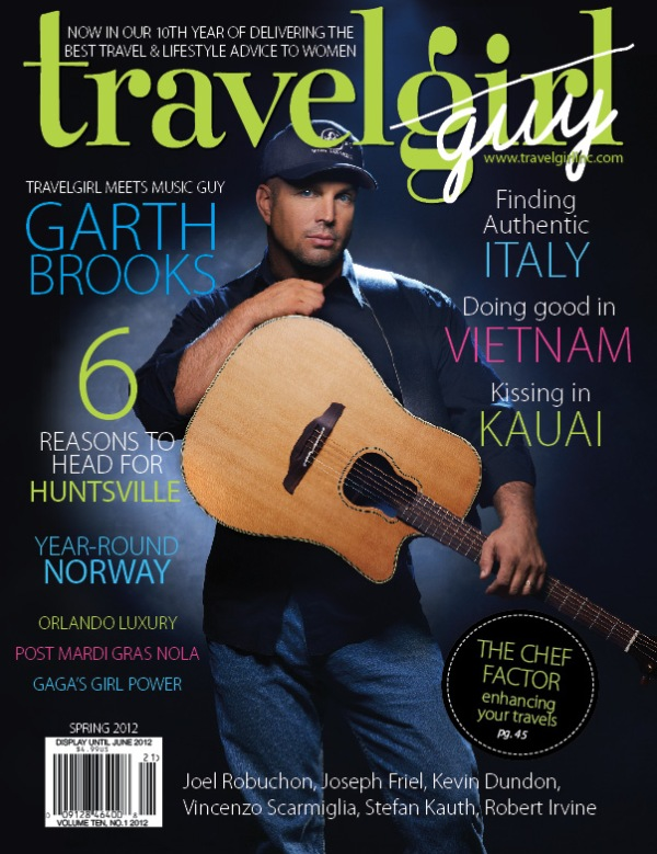 Read Publisher Renee Werbin's interview with legendary Garth Brooks in the current issue of Travelgirl.