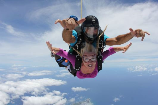 Skydiving is the ultimate adrenaline rush!