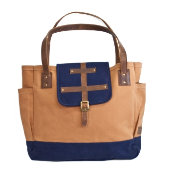 United by Blue has bags for just about any occasion, for men, women and kids. This McKenzie Leather Tote is sturdy enough for your roughest travels. And for every product you buy from United by Blue the company removes a pound of trash from the world's oceans and waterways. $98.