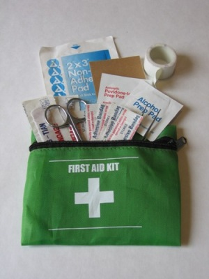 Yes, it's a great idea to carry some first aid supplies with you. But some other items that may help in an emergency may surprise you. Vodka, anyone?