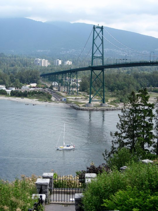 Lions Gate Bridge seen from Prospect Point, Stanley Park